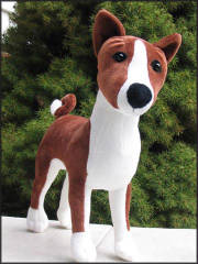 Magic, the Plush Basenji Dog